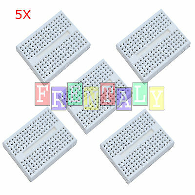 5pcs 5x White 170 Tie-points Mini Solderless Prototype Breadboard for Arduino