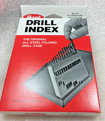 """Huot 1/16"""" to 1/4 by 64ths  Drill Case ONLY Index - Box U.S.A."""