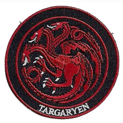 Game of Thrones House Targaryen Iron On/Sew On Patch Official Licensed Product