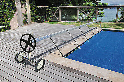 Kokido Stainless Steel In Ground Swimming Pool Cover Reel Set (Up To 18.7')