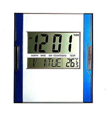design digital uhr wanduhr 12 24 stunden datum kalender alarm timer snoze 3886 eur 13 45. Black Bedroom Furniture Sets. Home Design Ideas