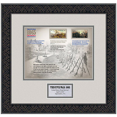 USPS New The Civil War: 1865 Framed Art