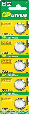 5x CR2025 GP Batteries Lithium Button CR2025 DL BR K Coin Battery - Pack of 5