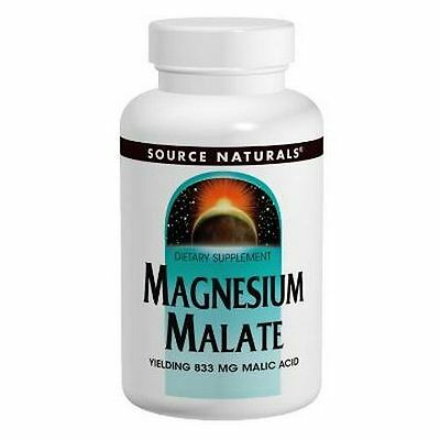 Magnesium Malate, 1250mg x 90Tablets, Source Naturals, Uk Stocks, 24Hr Dispatch