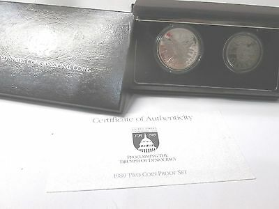 1989 Congressional 2 Coin Proof Commemorative Set
