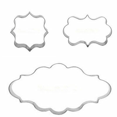 Plaque Cutter Cookie Frame Cake Oval Square Rectangle Stainless Steel Mold MGCA