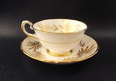 Tuscan Regency Cup And Saucer Fine English Bone China White Gold
