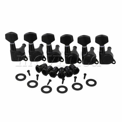 6R Black Tuning Pegs Machine Heads tuner for Electric Guitar