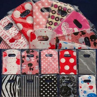 50pcs Wholesale Lot Pretty Mixed Pattern Plastic Gift Bag Shopping 15X9CM NEWLY