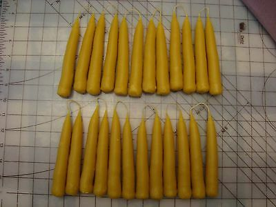 24 hand dipped beeswax candles:12 connected pairs (1 ounce each candle)