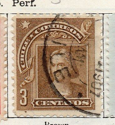 Chile 1905 Early Issue Fine Used 3c. 135778