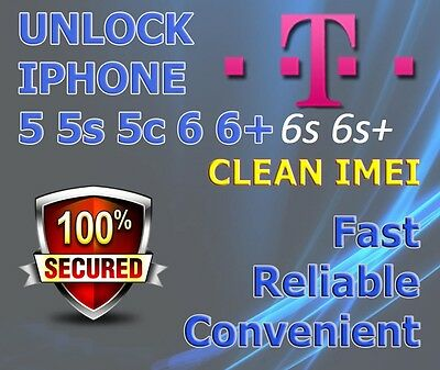 FACTORY UNLOCK SERVICE T-mobile USA iPhone 6 6+ Plus All IMEI