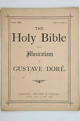 The Holy Bible Part 28 1880s Gustav Dore Art Plates Illustrations Isaiah Christ