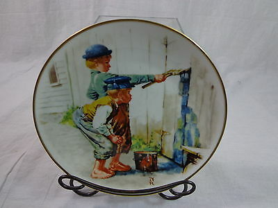 Norman Rockwell White Wash Collector's Plate
