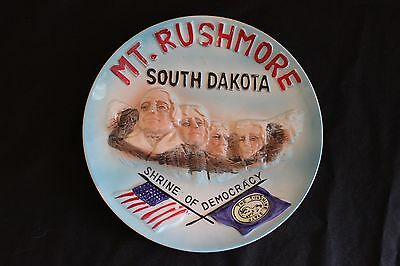 Vintage Mount Rushmore SD Hand Painted Souvenir Collector Plate Japan. RARE!