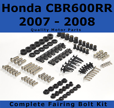 Complete Fairing Bolt Kit body screws for Honda CBR 600 RR 2007 - 2008 Stainless