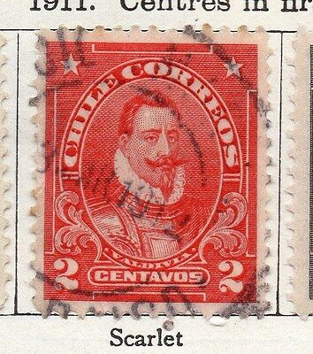 Chile 1911 Early Issue Fine Used 2c. 135797