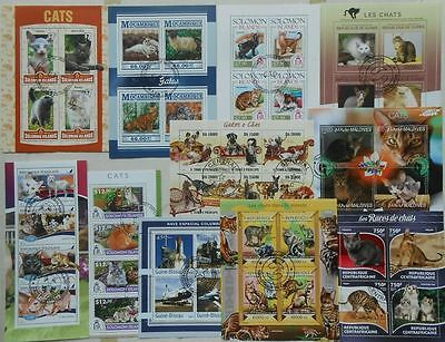 540 all different beautiful MINI SHEETS and SOUVENIR SHEETS Composition Lot