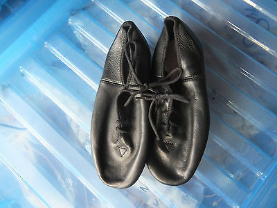 Black leather full sole jazz shoes  - all sizes