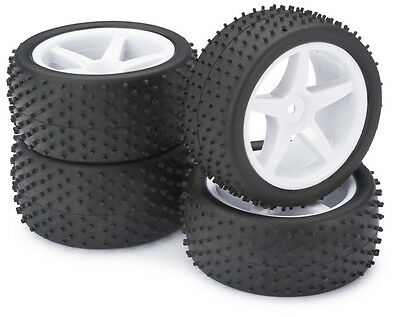 Absima 1/10th RC Wheel & Tyre Set 4WD Off Road Suit Tamiya DF-02 Hpi & More