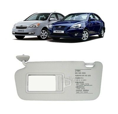 OEM Genuine 852101E020QS Sun Visor LEFT LH For 2006 - 2010 HYUNDAI Accent Verna