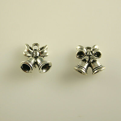 Wedding Bells - 5 Lead Free Antique Silver Tone Pewter Charms