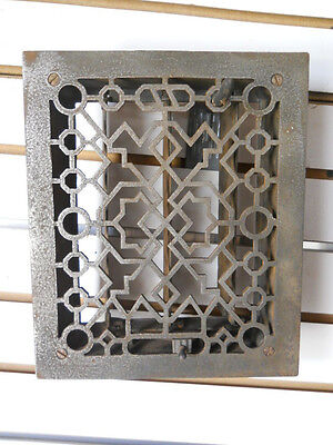 Southwestern (8X10) Cast Iron Grate With Louvered Back