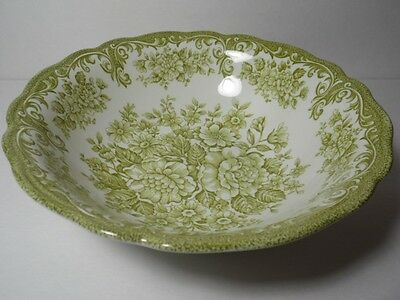 VTG Green J&G Meakin England Royal Staffordshire Avondale Pattern VEGETABLE BOWL
