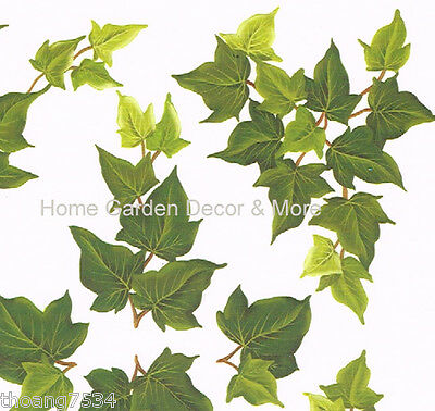 Green Ivy Leaf Vine Paint Transfer Dry Rub On Instant Stencil Applique