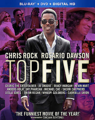 Top Five (Blu-ray + DVD, No Ultraviolet, Includes Slipcover, 2015)