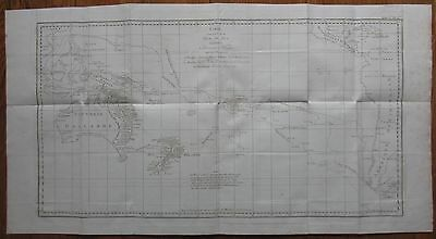 Cook: Large Map Pacific New Zealand Australia - 1774
