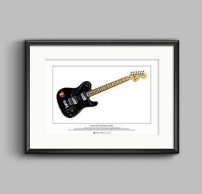 Thom Yorke's 1972 Telecaster Deluxe Limited Edition Fine Art Print A3 size