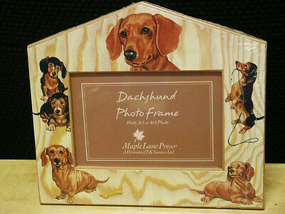 DACHSHUND PICTURE/PHOTO FRAME FOR 3X5 OR 4X6 PICTURE NEW IN PACKAGE
