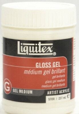 Liquitex Artists Acrylic GLOSS GEL MEDIUM 237ml. Artists Acrylic Painting Medium