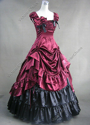 Southern Belle Victorian Period Dress Reenactment Theatre Clothing Punk 270 XL