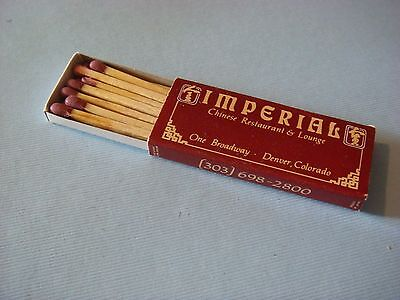 Matches Matchbook ~*~ IMPERIAL Chinese Restaurant & Lounge ~  ~ Denver, COLORADO