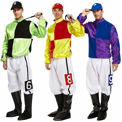 Funny Adult Hard Rider Horse Jockey Mens Fancy Dress Stag Party Costume Outfit