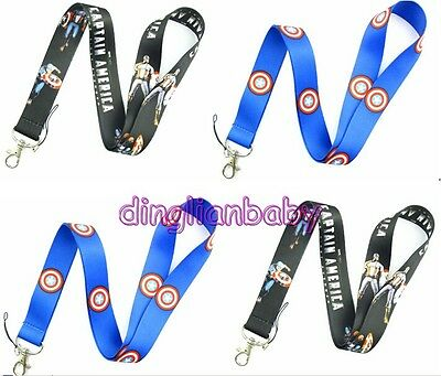 Lot Mixed Classic Captain America Mobile Phone lanyard Keychain straps charms