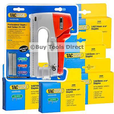 Tacwise Z3-140 Stapler Tacker Choice of Gun and/or 6mm to 14mm Type 140 Staples