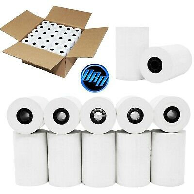 "3 1/8"" (80mm) 3.125"" WIDTH 119' 50 ROLLS IN A CASE THERMAL PAPER ROLL 7/16"" CORE"