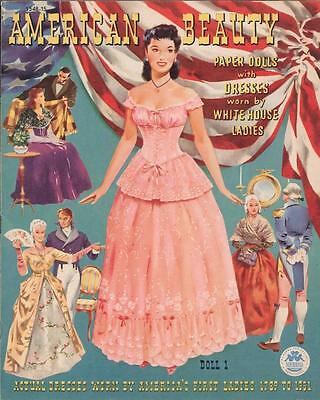 Vintage Uncut 1951 American Beauties Paper Dolls ~Hd Laser Reproduction~Lo Pr