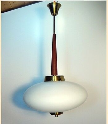 Stilnovo ceiling lamp 1950s opalino glass vintage design 50'