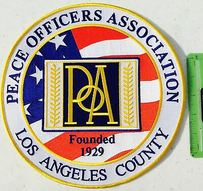 One New Los Angeles County Peace Officers Association Embroidered Patch