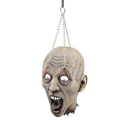 Halloween #horror House Scary Hanging Dead Head Prop Fancy Dress Party Accessory