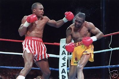 Sugar Ray Leonard Roberto Hearns Action #2 10x8 Foto