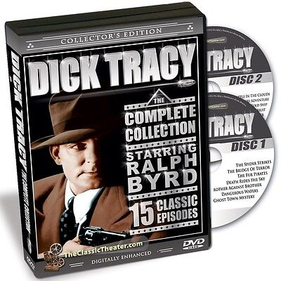 Dick Tracy - TV Series - Starring Ralph Byrd - 15 Episodes on 2 DVDs - NEW!