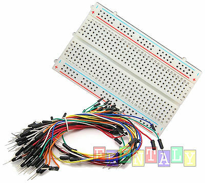 Combo  Mini Prototype board Electronic deck & 65pcs Breadboard Wire cable