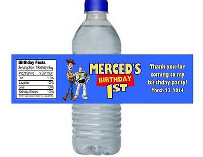 Toy Story Buzz Woody Birthday Party Water Bottle Labels Favors Personalized