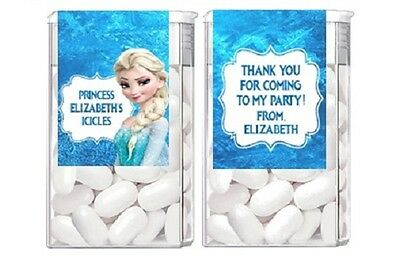 Frozen Elsa Birthday Party Candy Mint Labels Favors Personalized Custom