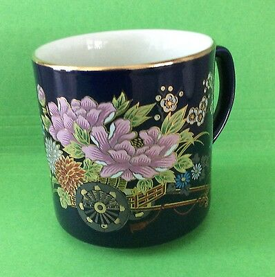 Cobalt Blue Coffee Cup Japan 8 oz Expressly produced for Heritage Mint LTD